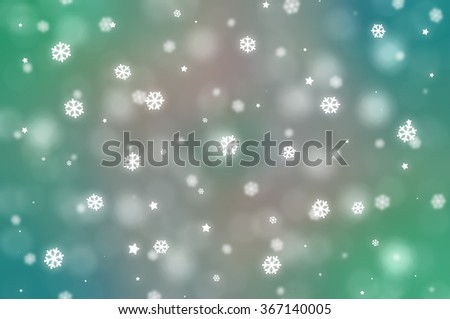 Christmas multicolored background. The winter background, falling snowflakes