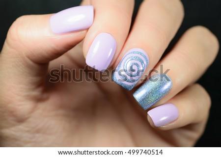 Christmas Nail Art Manicure Winter Holiday Stock Photo Royalty Free