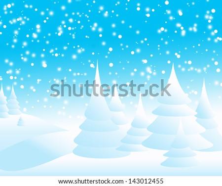 christmas nature - stock photo