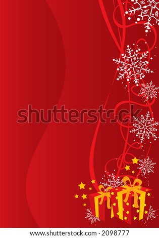 Christmas / New Year background illustration - stock photo