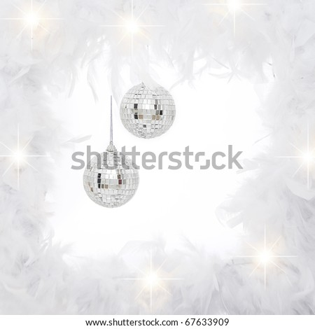Christmas,new years or disco ball party background - stock photo