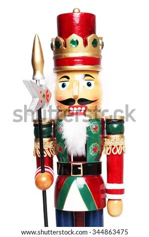 Christmas nutcracker king closeup  - stock photo