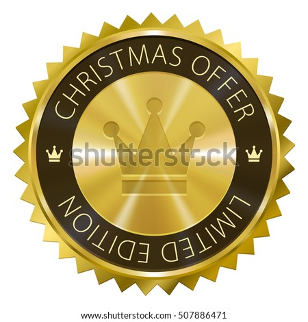 Christmas Offer Limited Edition Gold Label Stock Illustration