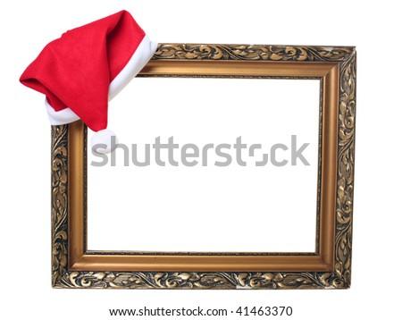 christmas old frame - stock photo
