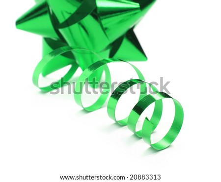 Christmas or gift bow on a white background - stock photo