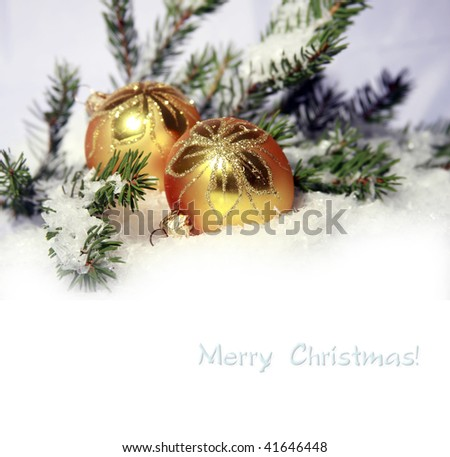 christmas ornament background (selective focus) - stock photo