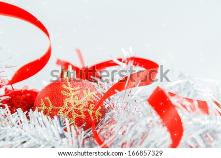christmas ornament decoration isolated on white background - stock photo
