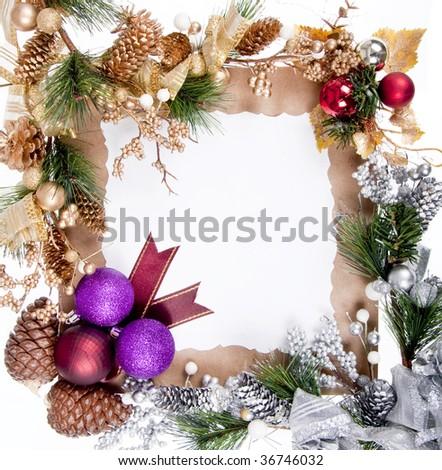 Christmas Ornament  Frame Decoration For Good Christmas Card - stock photo