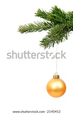 Christmas ornament hanging