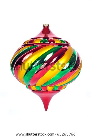 Christmas Ornament Isolated on White - stock photo