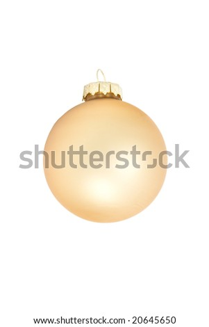 Christmas ornament on a white background. - stock photo