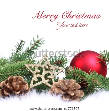 Christmas ornament on white background - stock photo
