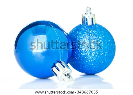 christmas ornaments gold decoration on white background