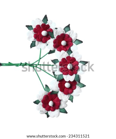 christmas ornaments isolate on white - stock photo