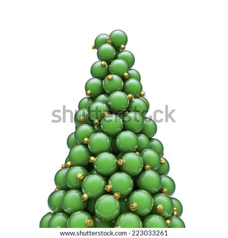 Christmas ornaments peak green - stock photo
