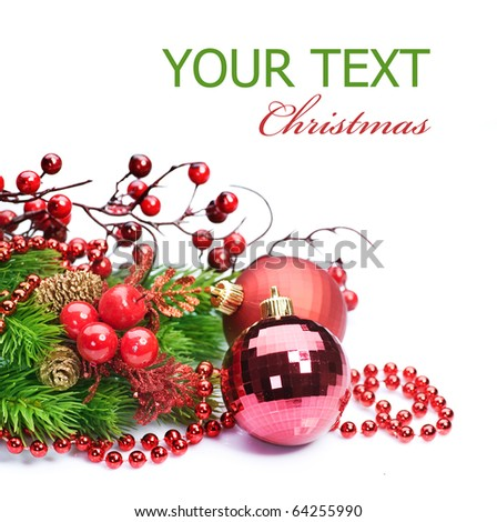 Christmas over white - stock photo