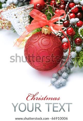 Christmas over white - stock photo