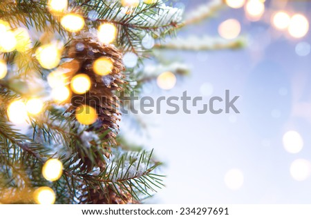christmas party background - stock photo
