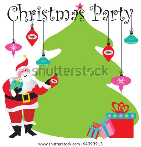 Christmas Party Invitation with room for your type