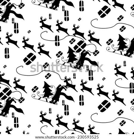 Christmas pattern  - stock photo