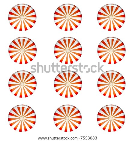 Christmas Peppermint Candy Background - stock photo