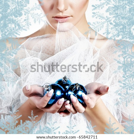 Christmas Portrait - stock photo