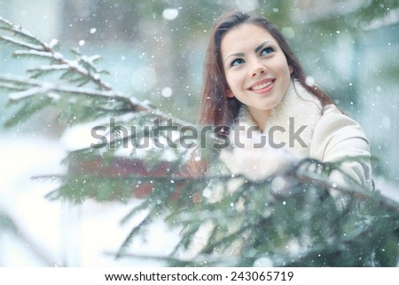 Christmas portrait of a girl student