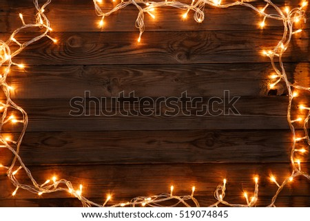 Christmas postcard on empty background