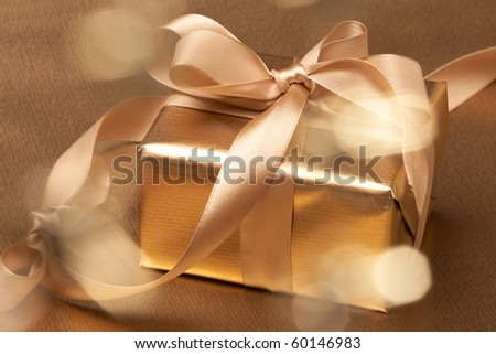Christmas present - stock photo