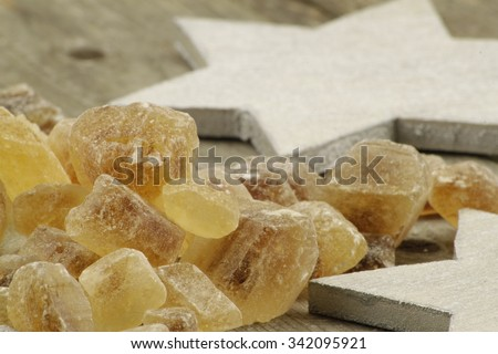 Christmas presentation of candy for tea or other drinks - stock photo