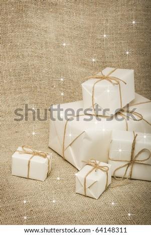 Christmas presents. - stock photo