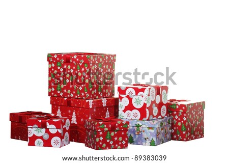 Christmas presents and gifts - stock photo