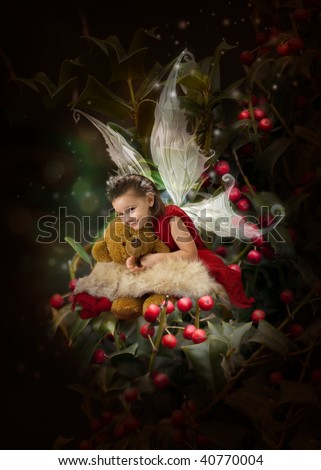 Christmas princess - stock photo