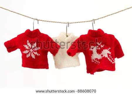 Christmas pullover 2 - stock photo