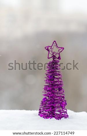 christmas purple christmas tree decor - Purple Christmas Tree