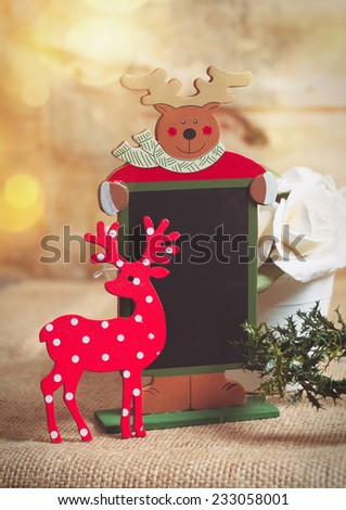 christmas recipe board on the table - stock photo