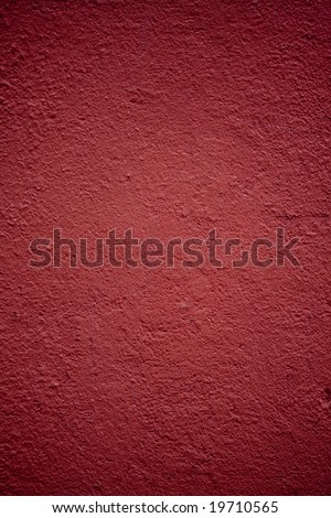 Christmas red background, vertical. Red plaster wall. - stock photo