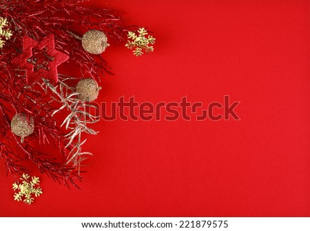 Christmas red background with space for text or image - stock photo