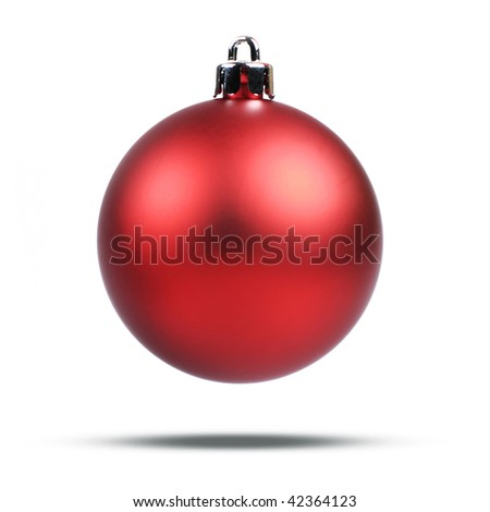 Christmas Red Ball - stock photo