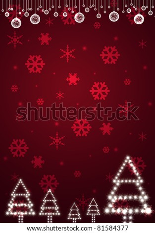 christmas red card - stock photo