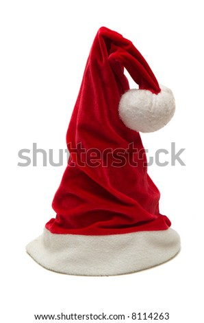 Christmas red hat - stock photo