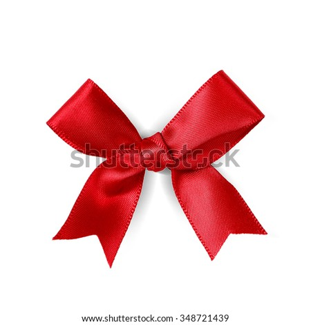 Christmas. Red ribbon on a white background