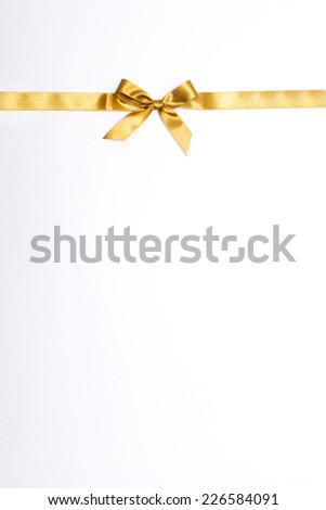 Christmas ribbon on white background - stock photo
