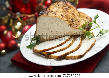 Christmas roast with spices