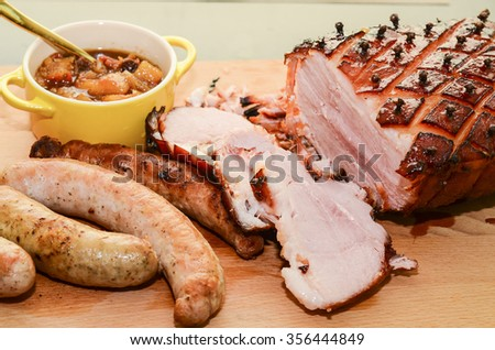 Christmas's eve is a time when family members contribute their share of cooking in conjunction with the family reunion dinner / Christmas background / Happiness is the key to a joyous occasion - stock photo