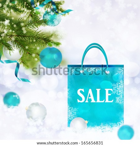 Christmas sale background - stock photo