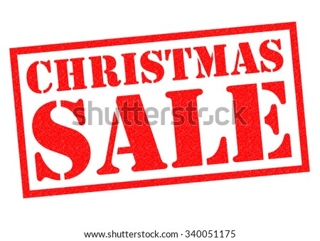 CHRISTMAS SALE red Rubber Stamp over a white background.