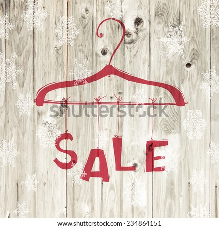 Christmas Sale Retro Poster. Raster version - stock photo