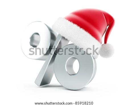Christmas Sale santa hat - stock photo