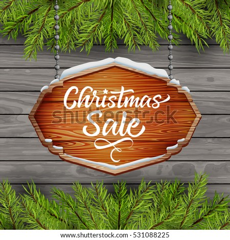 christmas sale. text on a Christmas background